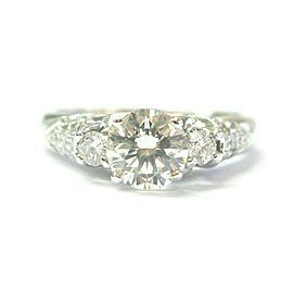 Scott Kay Round Diamond Three Stone Engagement Ring 1.02Ct + .44Ct I-SI1