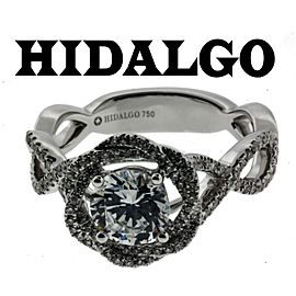 Hidalgo 1-96 18k diamond Engagement ring white gold fits 1ct Round cut size 6.5