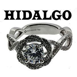 Hidalgo 1-96 18k diamond Engagement ring white gold fits 1ct Round cut size 6.5