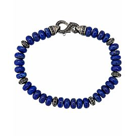 Stephen Webster Men's Thorn 6mm lapis & pave black sapphire beads bracelet