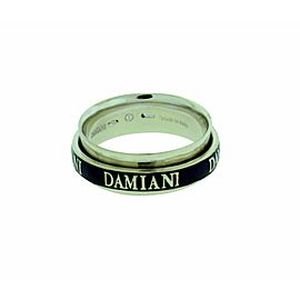 Damiani 18K white Gold Twister Double Band Diamond Ring size 7.5