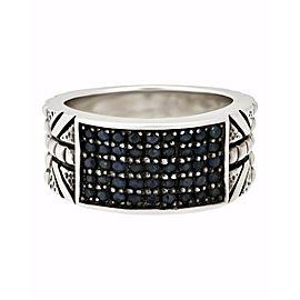 Stephen Webster Alchemy in UK Men's blue sapphire ring in silver size 11