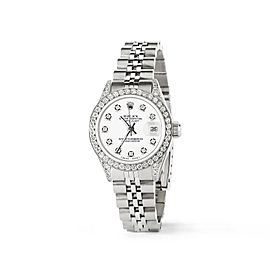 Rolex Datejust 26mm Steel Jubilee Diamond Watch w/Stone White Dial