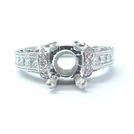 Tacori Platinum Diamond Semi Mount Ring .45Ct Size 5