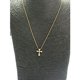 Tiffany & Co 18Kt Elsa Peretti Cross Pendant Necklace 14mm