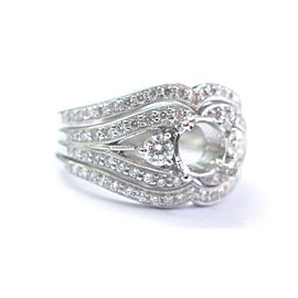 Simon G 18Kt White Gold Diamond Semi Mount Ring .94Ct ( Square .70Ct-1.00Ct )