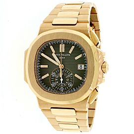 Patek Philippe 5980/1R-001 Rose Gold Nautilus Chronograph Watch Box Papers