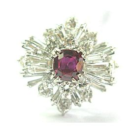 Platinum Ruby & Diamond Cocktail Ring 3.72Ct AAA Ruby VS SIZEABLE