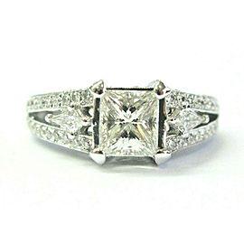 Natalie K Princess & Kite Shape Diamond Engagement Ring 14Kt WG 2.04Ct EGL