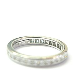 Tiffany & Co PLATINUM Diamond Channel Set Eternity Band Size 4.5 2.8mm