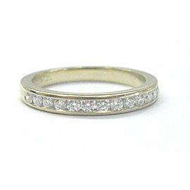 Tiffany & Co Round Diamond Channel Set Band 18Kt Yellow Gold Size 4.5 2.5mm