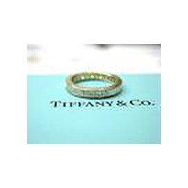 Tiffany & Co Princess Cut Diamond Eternity Band 18Kt Yellow Gold 1.80Ct Size 5