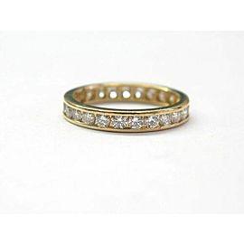 Tiffany & Co Round Diamond Channel Set Eternity Band Yellow Gold Size 5 .78Ct