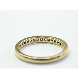 Tiffany & Co Round Diamond Channel Set Band Yellow Gold Size 6.5 2.5mm 18KT