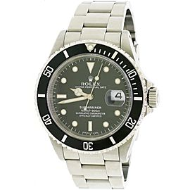 Rolex Submariner Date Black Dial 40MM Steel Mens Oyster Watch Box&Papers