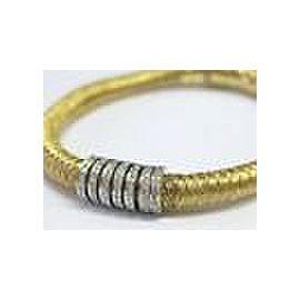 Roberto Coin 18Kt Woven Diamond Bar Bracelet Yellow Gold .60Ct