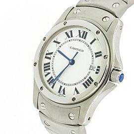 Cartier Santos Ronde Steel 30mm Ladies Watch W20027K1