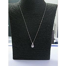 Fine Round Cut Diamond White Gold Pendant Necklace .68Ct