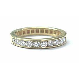 Fine Round Cut NATURAL Diamond Half Circle Yellow Gold Band Ring .50Ct