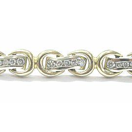 "Fine Round Cut Diamond Stationary Yellow Gold Tennis Bracelet 1.55Ct 7"""