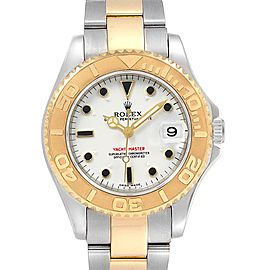 Rolex Yachtmaster 35 Midsize Steel Yellow Gold Watch 168623 Box Papers