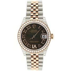 Rolex Datejust 31MM 2-Tone 18K Everose Gold/ Steel Ladies Watch Box Papers