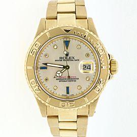 Rolex Yacht-Master 18K Yellow Gold 40MM Mens Watch w/MOP Diamond Dial 16628