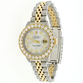 Rolex Datejust 26mm Yellow gold 2.0CT Diamond Bezel Watch w/ MOP Diamond Dial