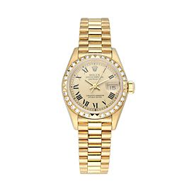 Rolex Datejust President 69268 Diamond Ladies Watch