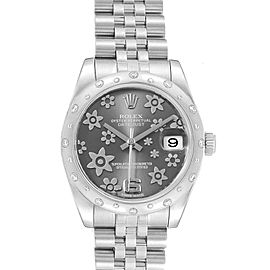 Rolex Datejust Midsize 31 Steel Diamond Floral Dial Ladies Watch 178344