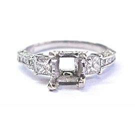 Tacori Platinum Diamond Engagement Semi Mount Ring .75Ct Size 5.5
