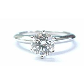 Tiffany & Co Platinum Round Diamond Solitaire Engagement Ring 1.03CT G-VS2