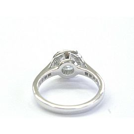 Tiffany & Co Embrace Round Diamond Engagement Ring Platinum 950 1.23Ct+.22Ct