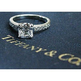 Tiffany & Co Platinum Novo Diamond Engagement Ring I-VVS2 .93CT