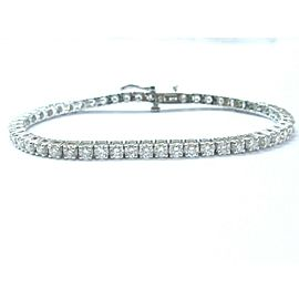 Round Cut NATURAL Diamond Tennis Bracelet SOLID White Gold 14KT 5.02CT 7""