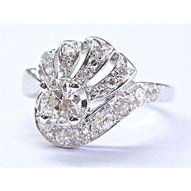 Fine Vintage Old European Cut Diamond White Gold Ring 14Kt 1.21Ct G-VS1