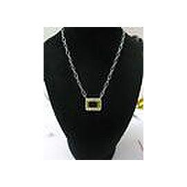 """Natural Lemon Quartz Diamond White Gold HUGE Pendant Necklace 18.40Ct 18"""" 14KT"""