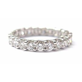 Fine Round Brilliant Diamond White Gold Eternity Ring 14KT 2.30CT