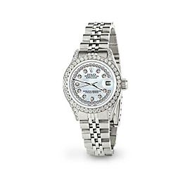Rolex Datejust 26mm Steel Jubilee Diamond Watch with Pearl Blue Dial