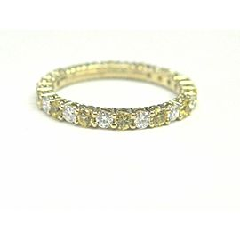 Tiffany & Co Yellow Sapphire & Diamond Shared Prong Eternity Band 18Kt .87Ct 5.5
