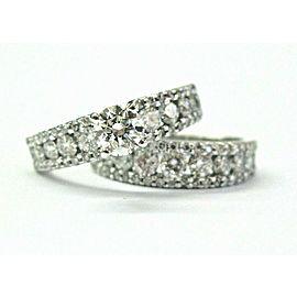 Round Diamond Engagement Set 14Kt White Gold 2.30Ct SIZEABLE
