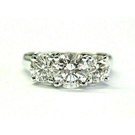 Round Diamond Three Stone Engagement Ring Platinum 950 2.11Ct G-SI1