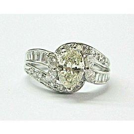 Marquise Diamond Engagemetn Ring Platinum 900 K-VS1 1.67Ct