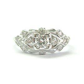 Vintage Old European Diamond Engagement Ring .37Ct