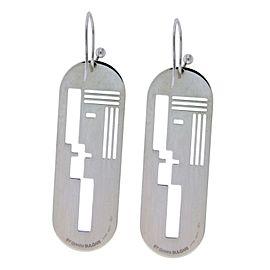 3 pairs of Enigma By Bulgari long earrings in sterling silver.