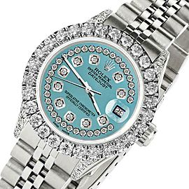 Rolex 26mm Datejust 2Ct Diamond Turquoise Diamond Dial Jubilee Bracelet