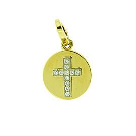 Cartier diamond cross pendant / charm in 18K yellow gold