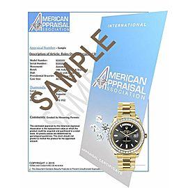 Rolex President Datejust 31MM 18K Gold Watch w/Pave Diamond Dial & Diamond Bezel