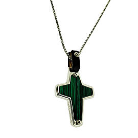 Stephen Webster England Made Me Malachite Cross Pendant silver unisex