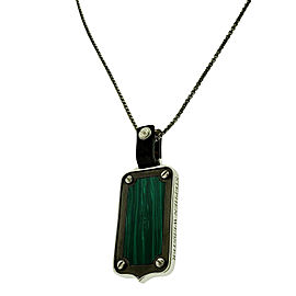 Stephen Webster England Made Me Malachite tag Pendant necklace unisex